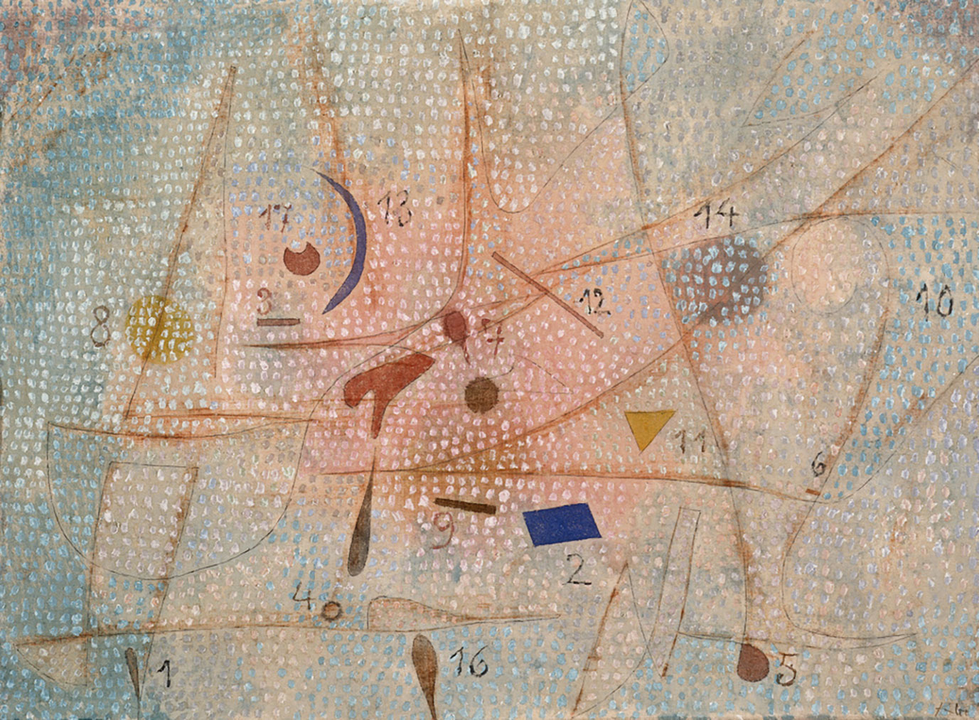 "Paul Klee, ""17 Gewürze 1932.69 (M 9)"" (17 épices), 1932"
